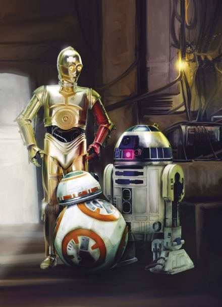 Wall mural wallpaper Star Wars droids